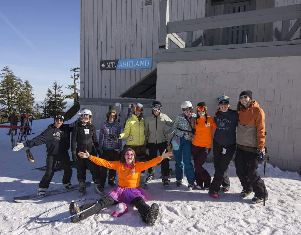 Get the Girls Out Day at Mt. Ashland is all smiles