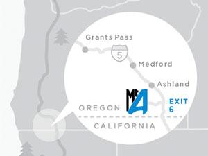 Mt. Ashland directions map