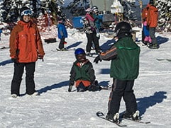 Mt. Ashland offers ski and snowboard lessons to people of all ages above 3 1/2