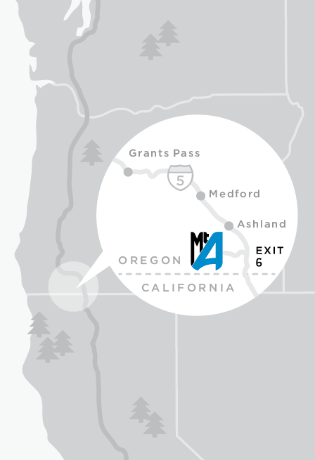 Map to Mt. Ashland Ski Area