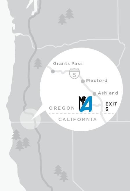 Map to Mt. Ashland Ski Area