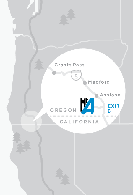 Ashland Montana Map.Getting Here Mt Ashland Ski Area