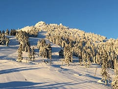 Mt. Ashland's high-definition webcam shows the mountain from the lodge