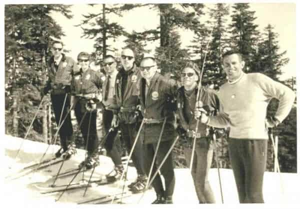 Dave Keiser and early ski patrolers