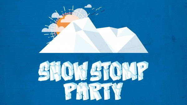 Snow Stomp Party Banner
