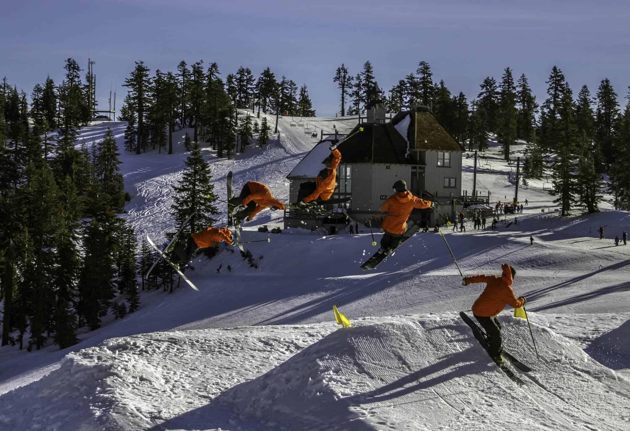 Pep Fujas enjoys skiing in Mt. Ashland's Terrain Park
