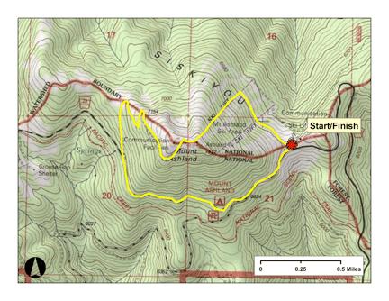 Mt A 5K course