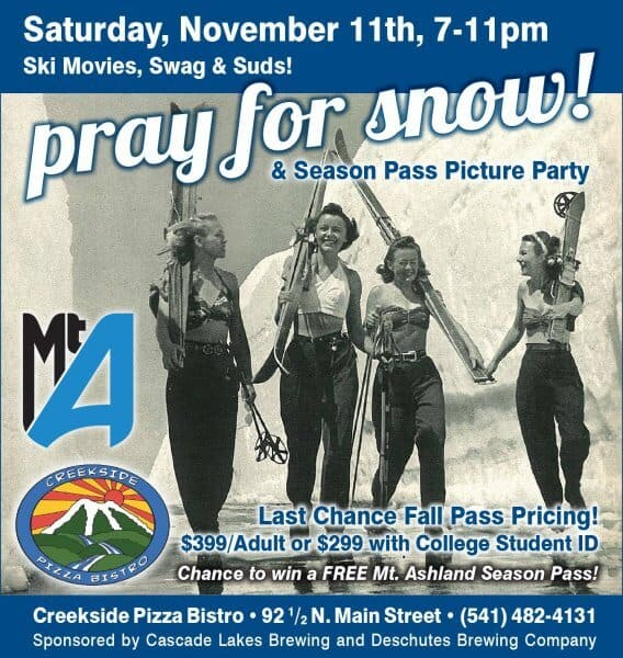 Creekside Pizza's Pray for Snow Party!
