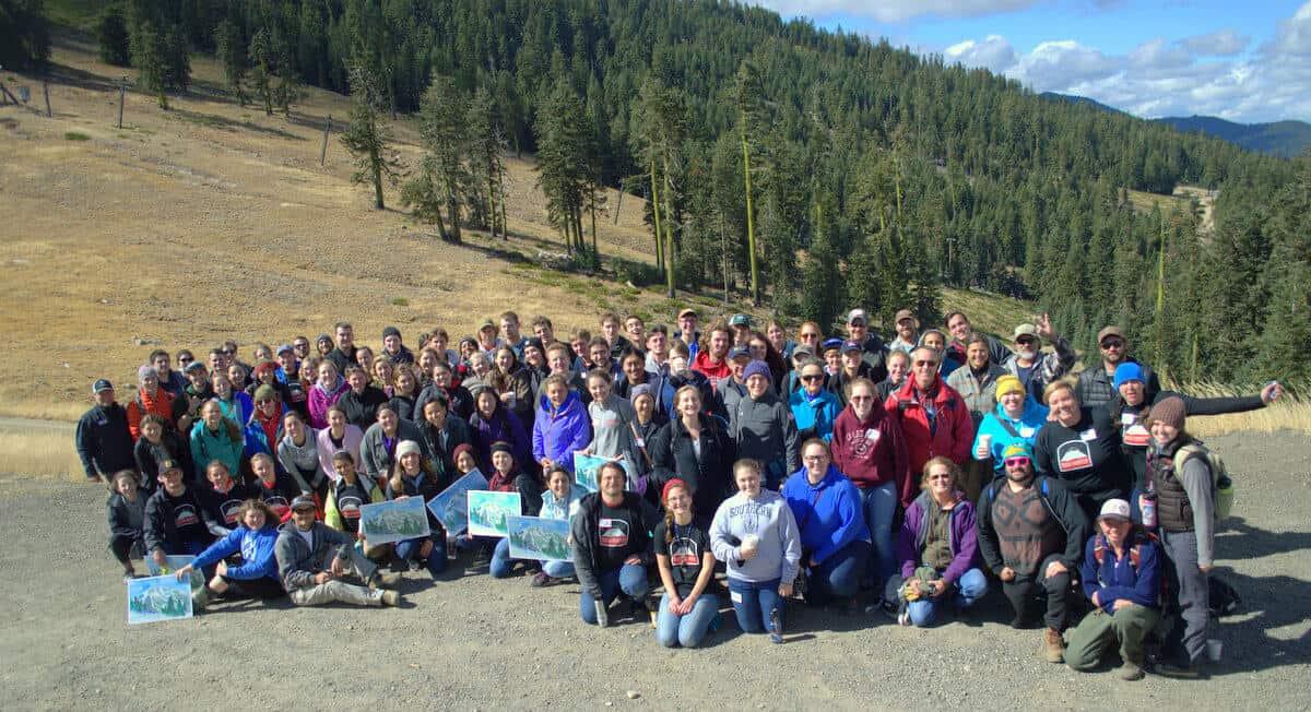 SOU students volunteer at Mt. Ashland