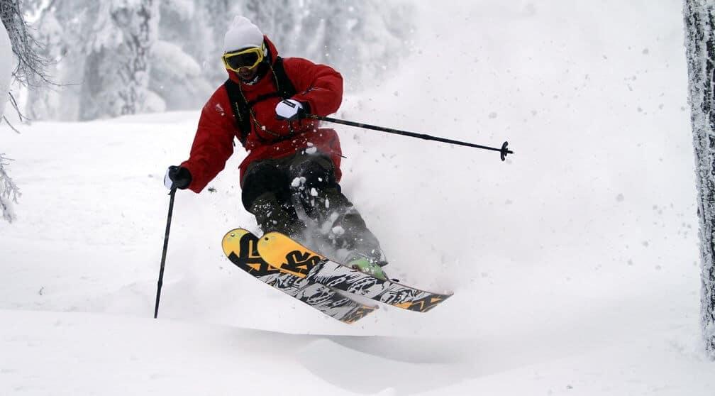 Powder skiing at Mt. Ashland