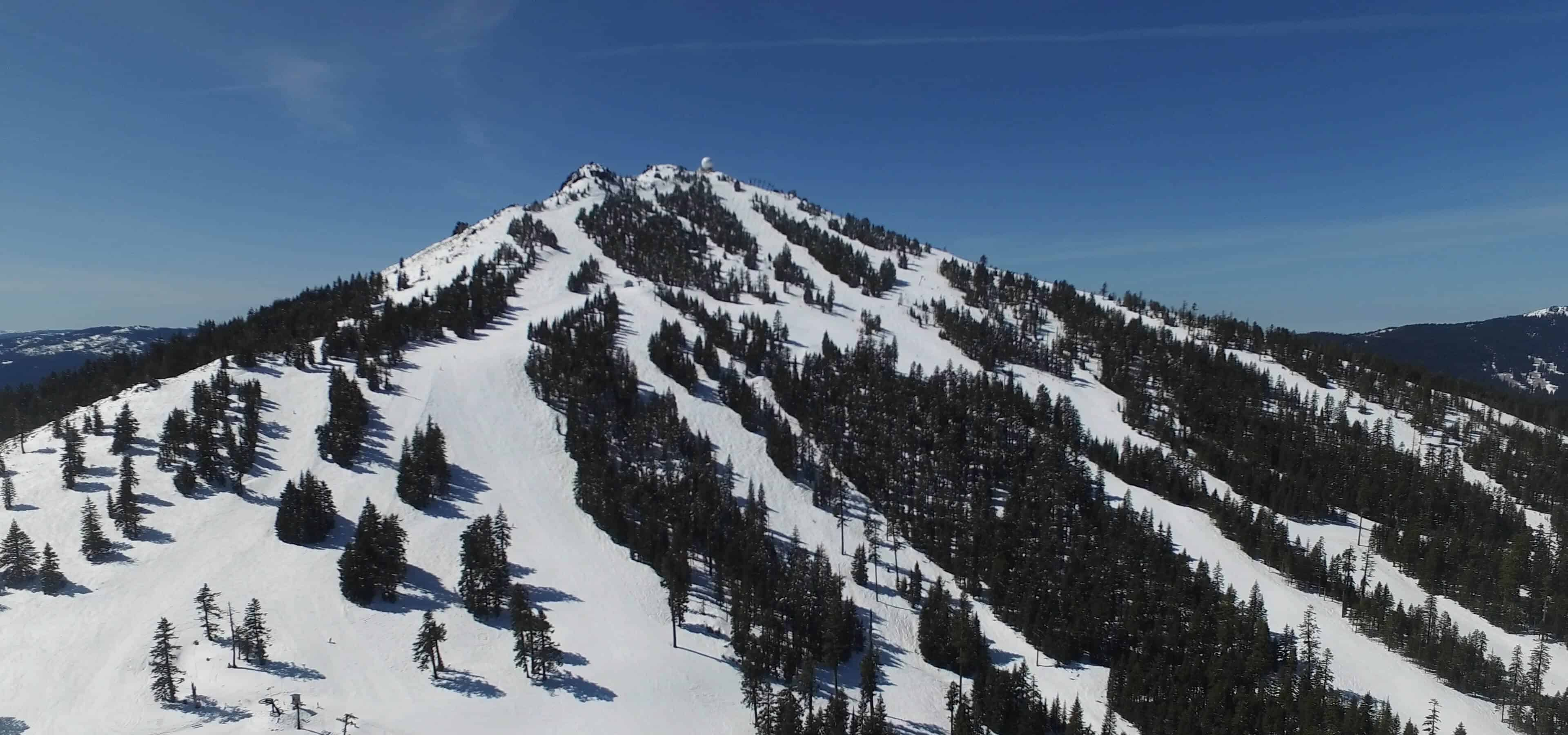 An aerial view of Mt. Ashland