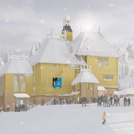 Mt. Ashland's lodge artist rendering