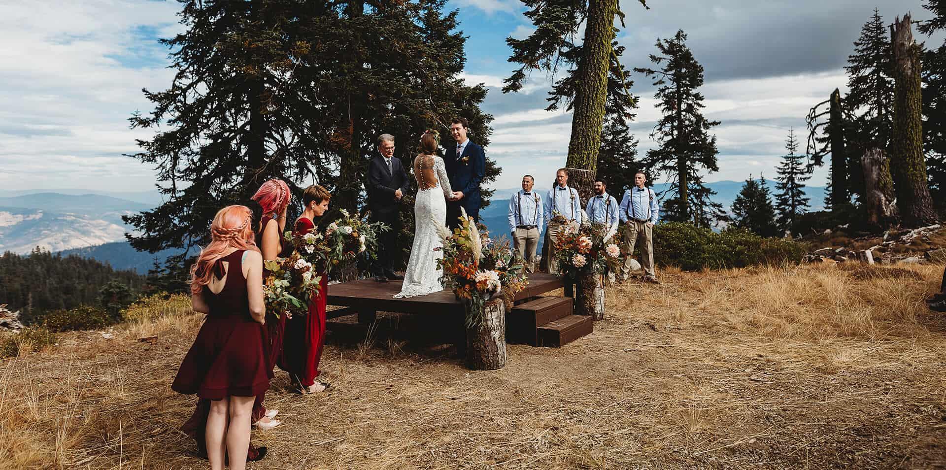 Mt. Ashland is a beautiful wedding venue in Ashland, Oregon
