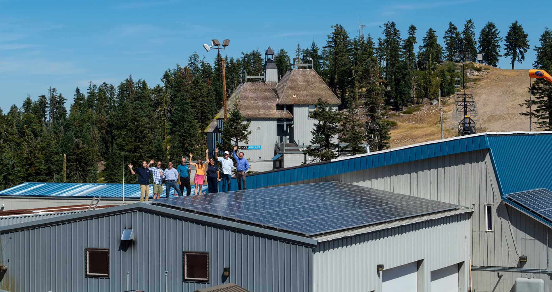 12% of Mt. Ashland's power comes from our solar panels
