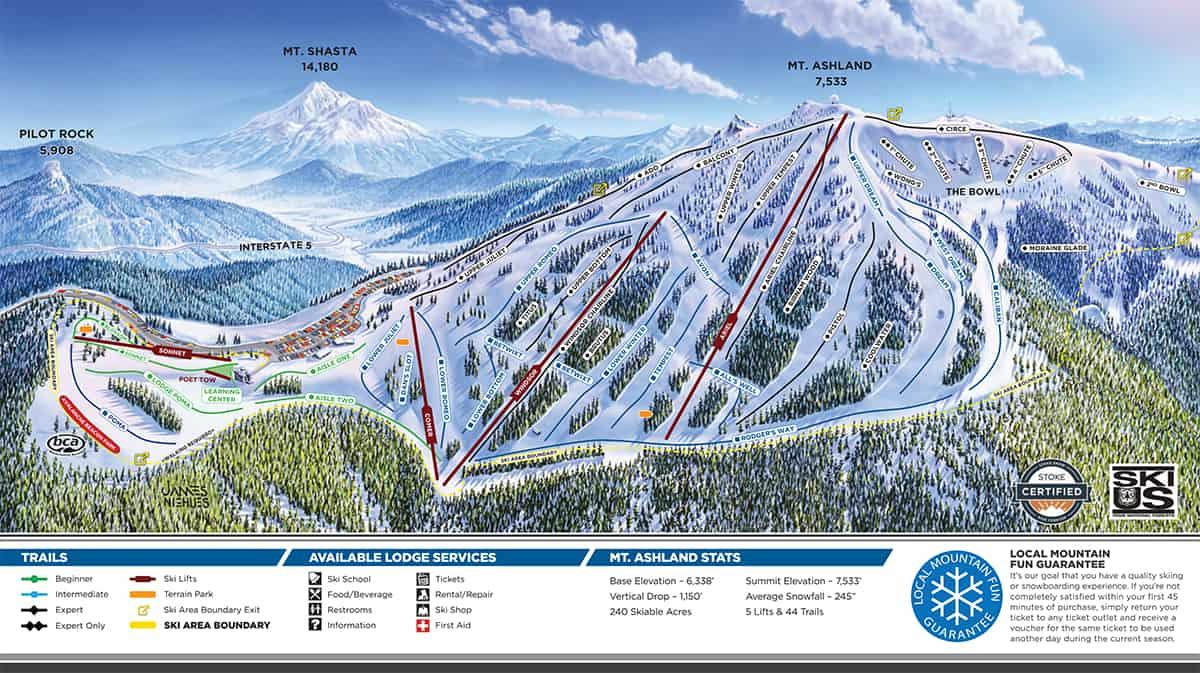 Mt. Ashland Trail Map