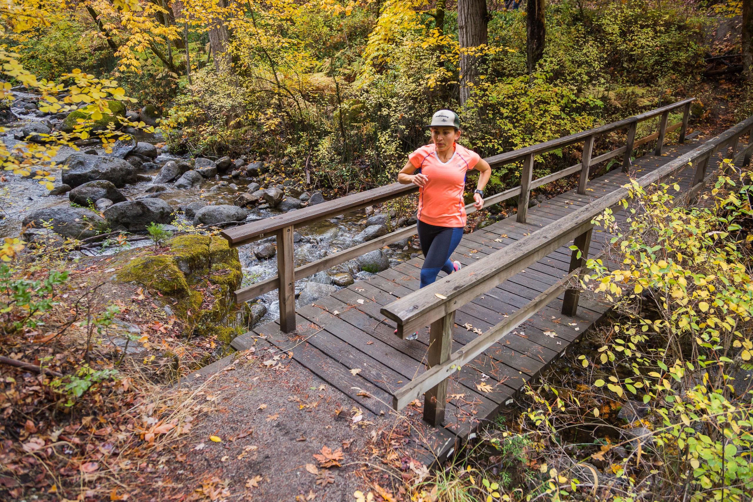 A Trail runner in Ashland's Lithia Park.