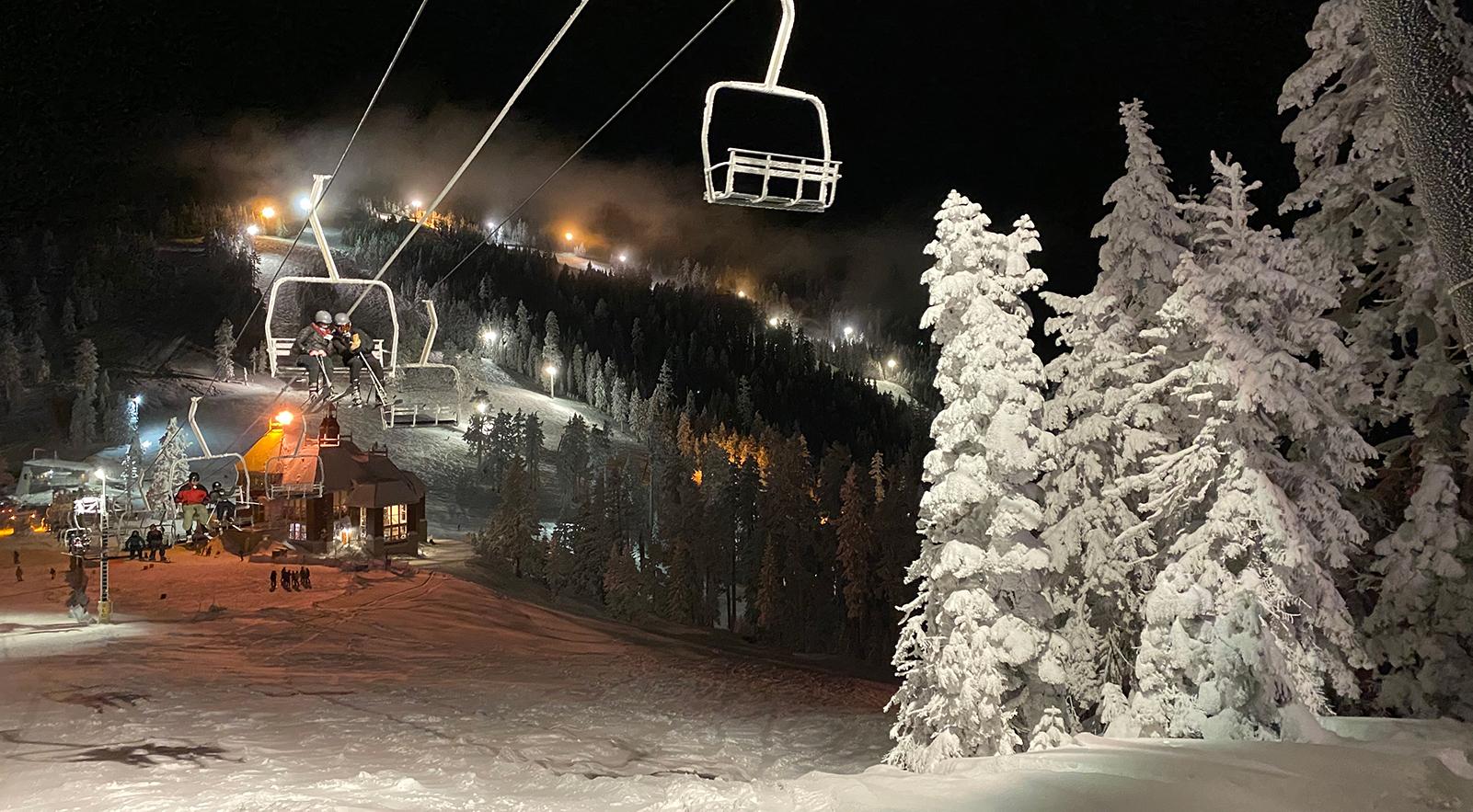 Night Skiing At Mt. Ashland