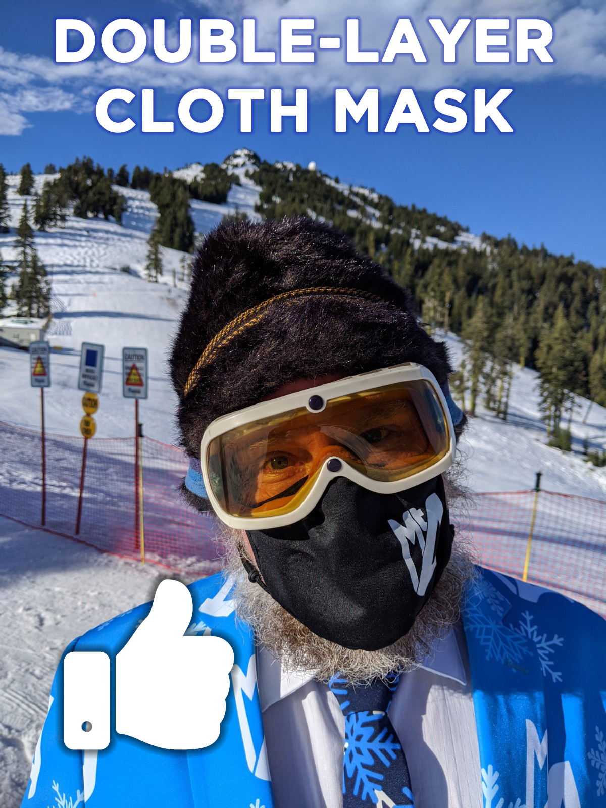 Double-Layer Cloth Mask - Thumbs Up!