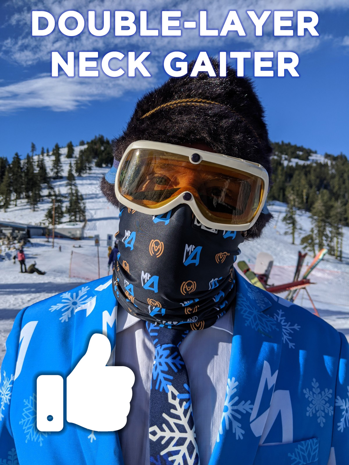 Double-layer-Neck Gaiter - Thumbs Up